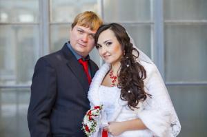 Зимняя свадебная фотосъемка