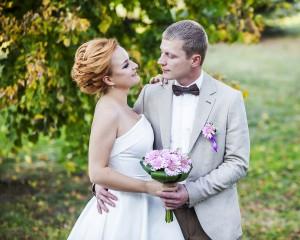 Жених и невеста потртер