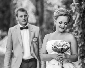 Свадебные чёрно белые фотографии
