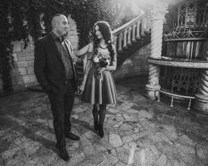 свадебная прогулка ч.б. фотографии